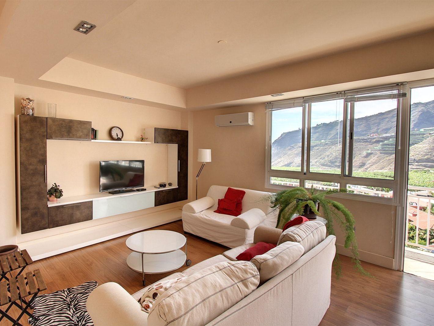 In der modernen Stadtwohnung auf La Palma gemütlich wohnen